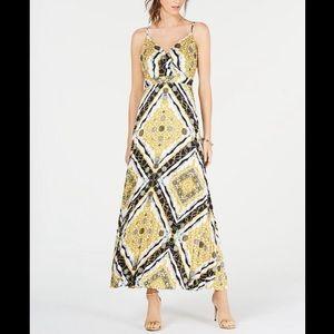 INC International Concepts Pleated Maxi Dress 12